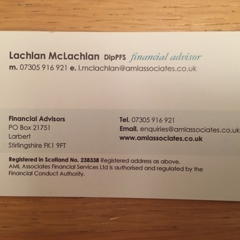 Lachlan McLachlan Dip PFS AML Associates Financial Services Ltd